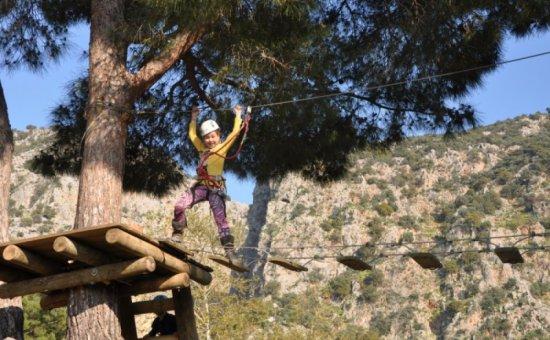 The Enjoyment Of The Zipline Adventure In Saklikent